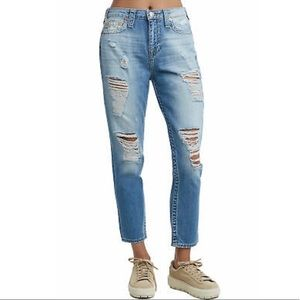 TRUE RELIGION High Rise Boyfriend Denim Jeans